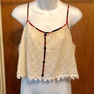 Paper Crane | Ivory Crochet Crop Top